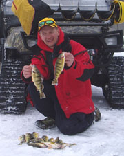 Ice Fishing Door County Wisconsin for perch, northern pike.